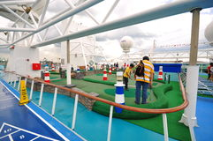 Golf area on 'The legend of the Seas' Royalty Free Stock Photos