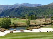 Golf Arrowtown abierto de Nueva Zelanda fotografía de archivo libre de regalías