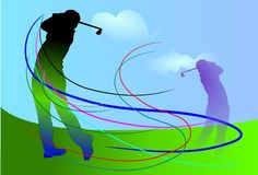 Golf art brush Royalty Free Stock Image