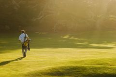 Golf At Sunset Royalty Free Stock Photo
