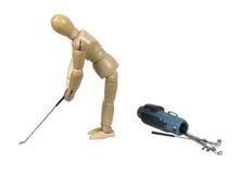 golf att leka som är runt Royaltyfria Bilder