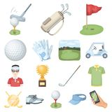 Golf and attributes cartoon icons in set collection for design.Golf Club and equipment vector symbol stock web Stock Photo