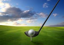 Golf auf einer Wiese lizenzfreie stockbilder