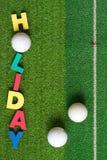 Golf auf Grün lizenzfreies stockbild