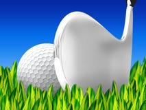 Golf auf grassv Stockfotografie