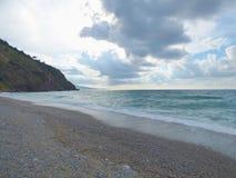 Golf av capoen Calava på Sicilien Arkivfoton