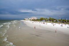 Golf av den Mexico stranden i Naples Royaltyfria Bilder