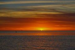 Golf av den Mexiko soluppsättningen Royaltyfri Bild