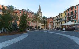 Golf av den poetGolfo deien Poeti - landskap av La Spezia - Lerici - Italien Arkivbilder