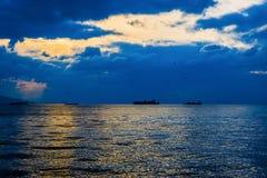 Golf av Izmir Turkiet Arkivfoto