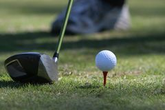golf av teeing Royaltyfri Foto