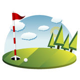 Golf background Stock Photo