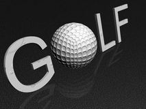 Golf background. Golf isolated on black background Royalty Free Stock Photos