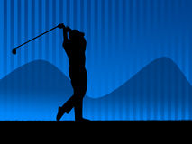 Golf background blue Stock Photos