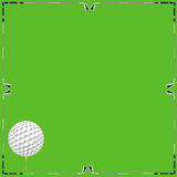 Golf background card Royalty Free Stock Image