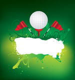 Golf background with grunge element Stock Images