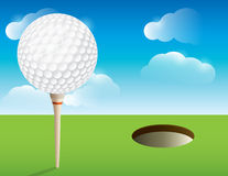 Golf Background. A nice illustration for a golf tournament invitation, poster, golf flyer, and more. Vector EPS 10 available. EPS file contains transparencies royalty free illustration