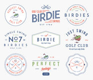 Golf Badges and labels Stock Photos