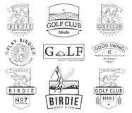 Golf Badges and Labels vol 2 Stock Images