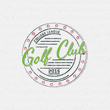 Golf badges logos and labels for any use Royalty Free Stock Image