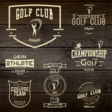 Golf badges logos and labels for any use Stock Image