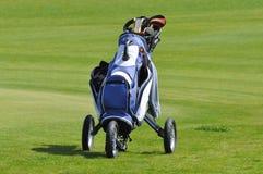 Golf Bag. On the golf cour Royalty Free Stock Photos