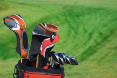 Golf bag Stock Images
