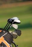 Golf Bag. On green grass royalty free stock photos