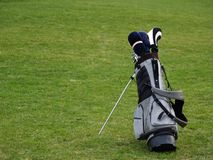 Golf Bag. On the grass Stock Photo