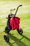 Golf bag cart Royalty Free Stock Image