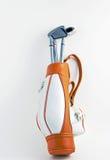 Golf Bag and clubs stock image