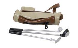 Golf bag and clubs Stock Photos