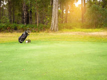 Golf bag and clubs Royalty Free Stock Photography