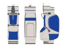 Golf bag, illustration Royalty Free Stock Photo