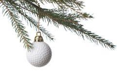 Golf-bal en Kerstmis Stock Afbeeldingen