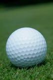 Golf-bal op groen royalty-vrije stock afbeelding