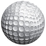 Golf ball. 3D illustration of a golf ball Stock Images