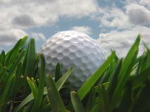 Golf ball. With clouds Royalty Free Stock Photos