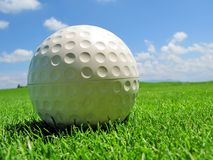 Golf ball. Ball on a golf course Royalty Free Stock Images