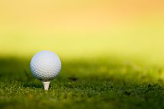 Golf Ball. On tee in grass Royalty Free Stock Photos