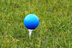 Golf Ball. Beautiful golf ball in grass with great colors Royalty Free Stock Photos