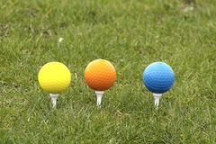 Golf Ball. Beautiful golf ball in grass with great colors Stock Image