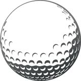 Golf ball. Vector golf ball close-up Royalty Free Stock Image