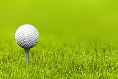 Golf ball. Close up with a golf ball Royalty Free Stock Photos
