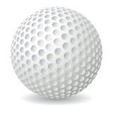 Golf ball. Isolated on white background,  illustration Royalty Free Stock Photo