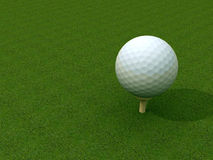 Golf ball. At tee area Royalty Free Stock Image