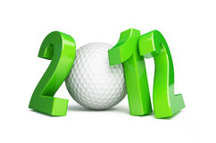 Golf ball 2012. On a white background Royalty Free Stock Photos