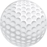 Golf Ball. A white golf ball with dimples Royalty Free Stock Image
