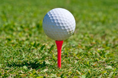 Golf Ball. On a real golf course green Royalty Free Stock Photos