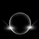 Golf ball. Over dark background Stock Photography